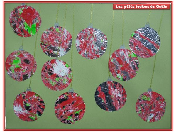 Boules de no l centerblog - Boule de noel a fabriquer en papier ...